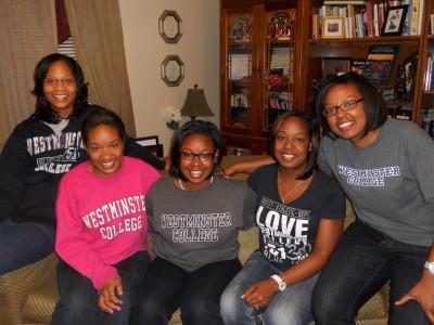 L-R: Tamara, '06, Jacquelyn, '11, Jorden, '14, Jessica, '06, Jennifer, '08