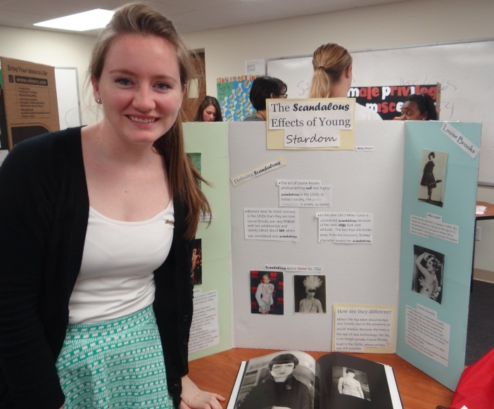 Molly Dwyer's Poster on Louis Brooks and Miley Cyrus