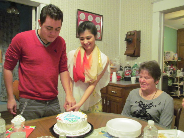 Martin Roa and Tripti Giri with Dot Brauner, their Friendship Family.