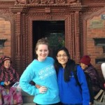 Molly (left) and Suravi (right) outside of Kumari Ghar.