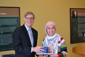 Pres Forsythe with Fatima Jafari
