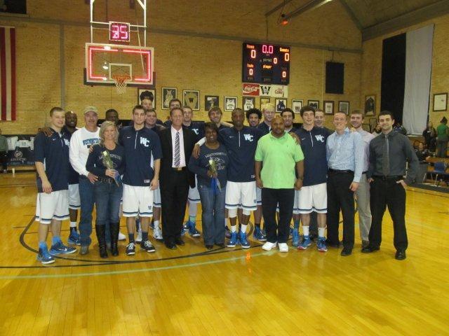 Westminster Blue Jay men's basketball, Senior Night 2015