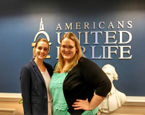 Kari (right) with her superviser Mary Drury (left), a paralegal for the Governmental & Legal Affairs Department.