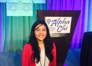 Westminster College Alpha Chi member Suravi Shrestha won one of 12 Sledge/Benedict Fellowships in the nation.