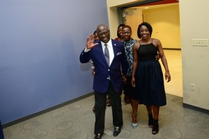 Dr. Akande and his family as he is introduced to the Westminster College community for the first time.