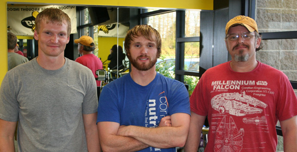 Westminster students and military veterans Bret and Brandan Robertson and Grant Gall.