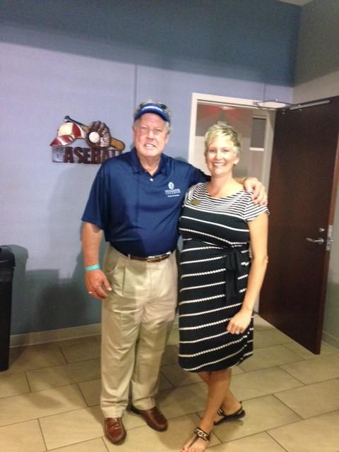 David Veitch '73 and Sarah Munns, Director of Alumni Engagement