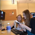 Students attending Westminster National Security Institute this summer work in the new cybersecurity lab.