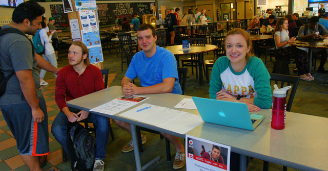 Westminster College Blood Drive: Ian Gould '16; Grayson Norris '17 and Andy Ford '18