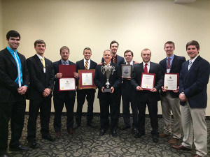 The Alpha Eta Chapter of Kappa Alpha Order received their sixth George C. Marshall Award for superior operations and performance in Feb. 2015.