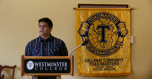 Toastmasters meeting at Westminster College