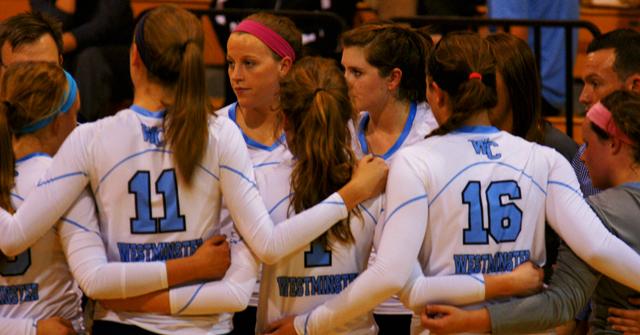 A home game against Washinghton University. We lost 3-1. From left Amanda Kiso '17; Micha Frasher '19; Nikki Testerman '19