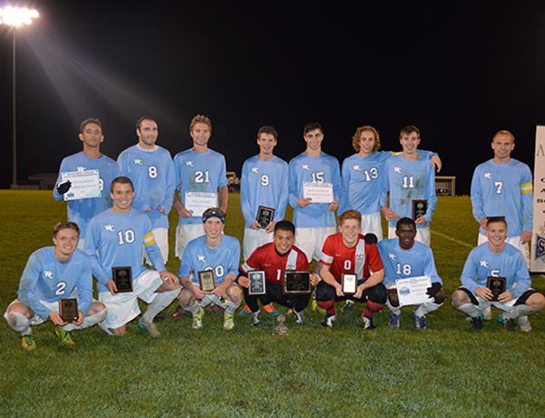The Westminster men's soccer team had a record setting 10 student-athletes receive St. Louis Intercollegiate Athletic Conference (SLIAC) awards on November 6, 2015 after the SLIAC Tournament Championship.