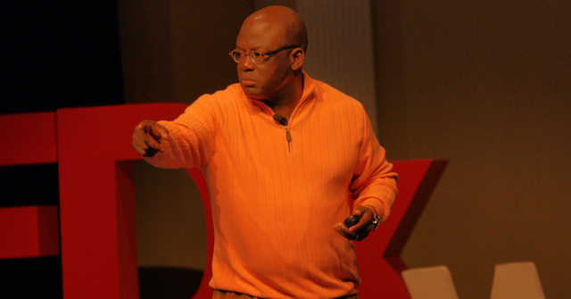 President Akande delivering his speech on TEDx at Westminster College