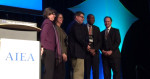 Professor Kurt Jefferson accepts national award in Montreal on behalf of The Churchill Institute for Global Engagement.