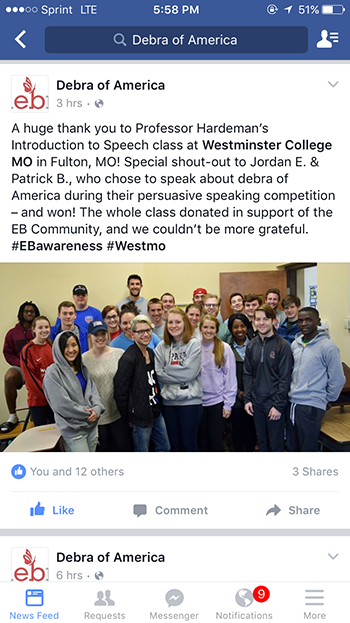 Debra-of-America-Westminster-College