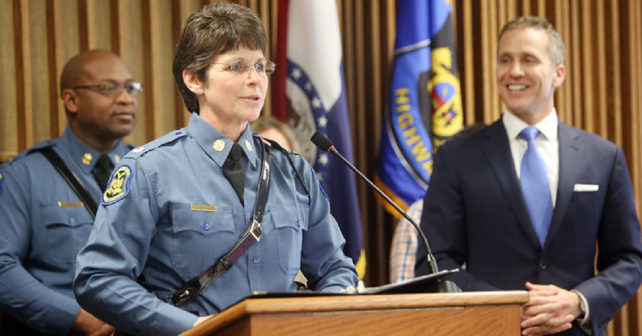 first woman to lead missouri highway patrol to speak on